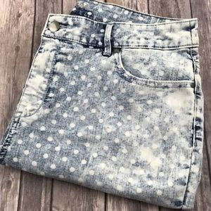 -Chicos ankle-crop polka-dot jeans